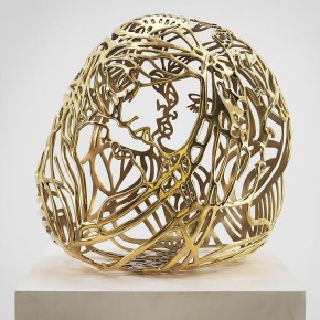 "BACK TO TO BE A LADY EXHIBITIONGhada Amer Baisers 1 2012 gold plated bronze 22.5 x 16 x 20 inches Courtesy of the artist and Kukje Gallery 290x290 - Sundaram Tagore Singapore presents ""To Be a Lady"" featuring an international selection of women artists"