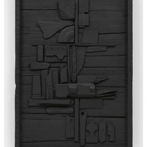 """BACK TO TO BE A LADY EXHIBITIONLouise Nevelson Night Flower One 1958 wood painted black 36.25 x 24.75 x 3.75 inches Courtesy Pace New York © 2013 Estate of Louise Nevelson Artists Rights Society ARS 290x290 - Sundaram Tagore Singapore presents """"To Be a Lady"""" featuring an international selection of women artists"""