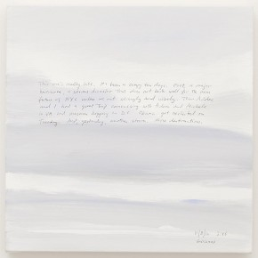 """Byron Kim Sunday Painting 11 8 12 2012 Arcylic and ink on canvas mounted on panel 35.6x35.6cm 290x290 - James Cohan Gallery Shanghai presents """"Day and Night"""" featuring works by New York-based artists Spencer Finch and Byron Kim"""