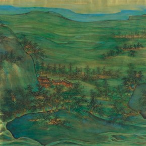 """Chen Peiqiu """"Mountain Brook and Eluvial Landscape Figure"""" 290x290 - Shanghai Art Exhibition in Beijing Inaugurated at National Art Museum of China"""