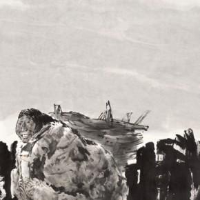 "Fang Zengxian ""Kunlun Mountains in Moonlight""  290x290 - Shanghai Art Exhibition in Beijing Inaugurated at National Art Museum of China"