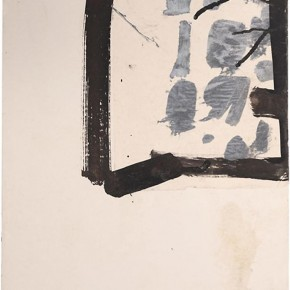 "Jay DeFeo Untitled Florence 1952 tempera and ink with collage on paper 20 x 14.75 inches The Jay DeFeo Trust courtesy Mitchell Innes Nash New York 290x290 - Sundaram Tagore Singapore presents ""To Be a Lady"" featuring an international selection of women artists"