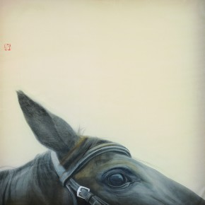 Li Guanguan A Half No. 10 2012 Ink on Silk 50×50cm 290x290 - Guanguan's Horse – Solo Exhibition by Li Guanguan at Triumph Art Space