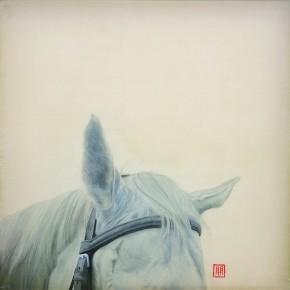 Li Guanguan A Half No. 12 Ink on Silk 50×50cm 290x290 - Guanguan's Horse – Solo Exhibition by Li Guanguan at Triumph Art Space