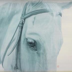 Li Guanguan One Third Blue 2013 Ink on silk 54×78cm 290x290 - Guanguan's Horse – Solo Exhibition by Li Guanguan at Triumph Art Space