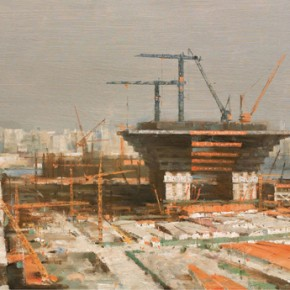 """Li Xiangyang """"Pudong Landscape"""" 290x290 - Shanghai Art Exhibition in Beijing Inaugurated at National Art Museum of China"""