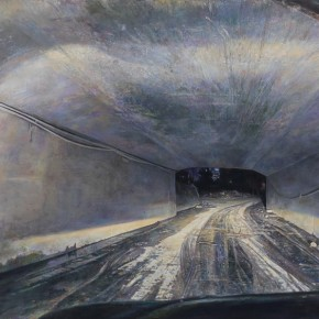 Lu Liang Tunel with Little Surface Water on the Road 2013 Oil on canvas 388x218cm 290x290 - Academy – Exhibition of Works of the Young Teachers from the Central Academy of Fine Arts