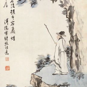 "Pu Xinyu ""Bao Zhao's Poetic Figure""  290x290 - Collecting Osmund under the Pine Window – Pu Xinyu's Paintings Presented at Art Museum of Beijing Fine Art Academy"