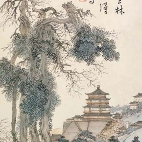 "Pu Xinyu ""Pai Yun Dian Hall of Dispelling Clouds Figure"" 290x290 - Collecting Osmund under the Pine Window – Pu Xinyu's Paintings Presented at Art Museum of Beijing Fine Art Academy"