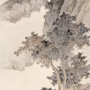 "Pu Xinyu ""Visit a Friend in the Autumn Mountains Figure""  290x290 - Collecting Osmund under the Pine Window – Pu Xinyu's Paintings Presented at Art Museum of Beijing Fine Art Academy"