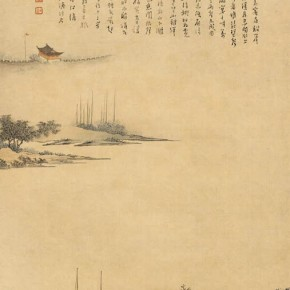 "Pu Xinyu imitation of ""Farewell in the Xunyang River Figure"" by Qiu Ying 290x290 - Collecting Osmund under the Pine Window – Pu Xinyu's Paintings Presented at Art Museum of Beijing Fine Art Academy"