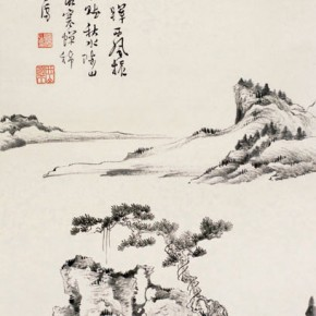 "Pu Xinyu imitation of the ""Landscape Painting in Yuan Dynasty Figure"" 290x290 - Collecting Osmund under the Pine Window – Pu Xinyu's Paintings Presented at Art Museum of Beijing Fine Art Academy"