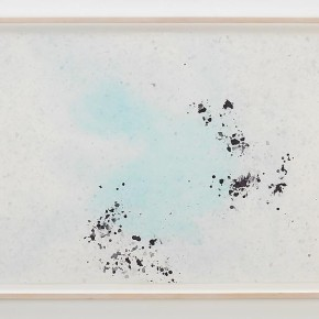 """SPENCER FINCH Ice Drawing Fox Glacier NZXV 2010 Dyed ice on paper 73.7x102.9cm 290x290 - James Cohan Gallery Shanghai presents """"Day and Night"""" featuring works by New York-based artists Spencer Finch and Byron Kim"""