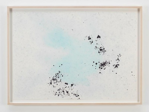 SPENCER FINCH, Ice Drawing, (Fox Glacier, NZ)XV, 2010; Dyed ice on paper, 73.7x102.9cm