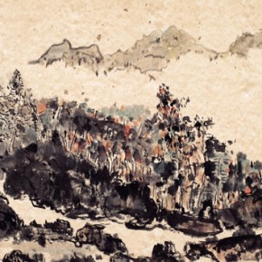Shao Dazhen, Blossom, 2011; Ink on paper, 48×80cm