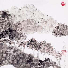 Shao Dazhen, Description of Scenery, 2009; Ink on paper,  25×23cm