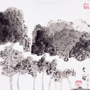 Shao Dazhen, Eight Trees, 2009; Ink on paper, 25×23cm