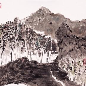 Shao Dazhen,  Encircling, 2009; Ink on paper,  25×27cm