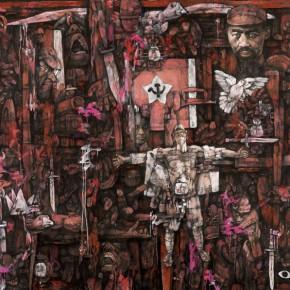 "Shi Dawei ""Long Match Series No.3 Blood in the Xiang River·Nirvana"" 290x290 - Shanghai Art Exhibition in Beijing Inaugurated at National Art Museum of China"