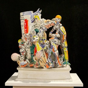 """Viola Frey Man in Suit Column 1996 Ceramic 30.5 x 27 x 16 inches Collection of Artists' Legacy Foundation courtesy Nancy Hoffman Gallery New York 290x290 - Sundaram Tagore Singapore presents """"To Be a Lady"""" featuring an international selection of women artists"""