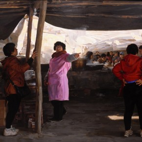 "Wang Hongjian ""Strong Spring at a Store in Taihang Mountains""  290x290 - The 9th Anniversary Ehxibition of the China Realism Oil Painting to be Unveiled at National Art Museum of China"