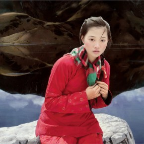"Wang Yidong ""Oil Painting of Cold Dew""  290x290 - The 9th Anniversary Ehxibition of the China Realism Oil Painting to be Unveiled at National Art Museum of China"