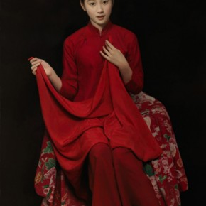 "Wang Yidong ""Red Veil of Er Ni"" 290x290 - The 9th Anniversary Ehxibition of the China Realism Oil Painting to be Unveiled at National Art Museum of China"