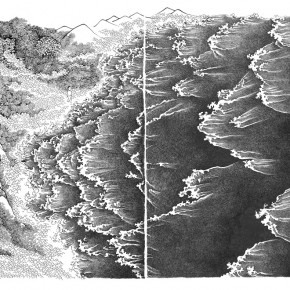 "Wu Lin ""Tiny World·Tide the Sea No.1"" etching 120x95cm10000 290x290 - The Second Touring ""Unspoken Understanding – Works by Xu Bing's Postgraduate Students"" Opened at the Enjoy Museum of Art, Beijing"