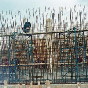 """Yto Barrada Blue Scaffold 2008 2011 Cibachrome print 31.5 x 31.5 inches Courtesy of the artist and Pace London 290x290 - Sundaram Tagore Singapore presents """"To Be a Lady"""" featuring an international selection of women artists"""