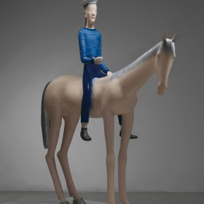 Yu Fan White Horse and the Sailor 2008 copper spray paint 242×250×76cm 290x290 - Academy – Exhibition of Works of the Young Teachers from the Central Academy of Fine Arts