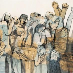 "Zhang Peicheng ""Praying to God""  290x290 - Shanghai Art Exhibition in Beijing Inaugurated at National Art Museum of China"
