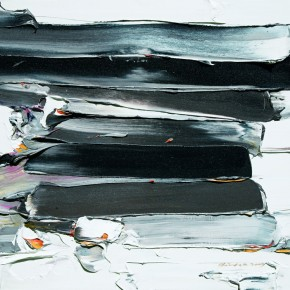 "03 Burigude Zhang, ""Spring Snow"", 91 x 122 cm, acrylic on canvas, 2009"