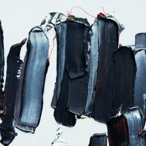 """04 Burigude Zhang, """"Objects Gathering According to Category"""", acrylic on canvas, 61 x 122 cm, 2009"""