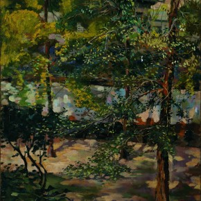 "04 Dai Ze ""Landscape Summer Tree Shade"" oil on canvas 1946 CAFA Art Museum Collection 290x290 - Silent Advocacy: Teaching Research Exhibition of the First Studio of the Department of Oil Painting in the School of Plastic, CAFA"