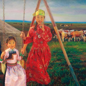 """04 Work by Long Liyou 290x290 - """"2013 Chinese Academy of Oil Painting Exhibition"""" About to Open at Art Museum of Chinese Academy of Oil Painting"""