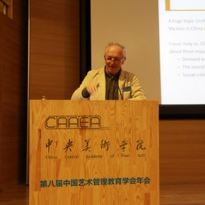 05 Professor Luca Zan Director of the Postgraduate Program of Management and Innovation Organization of Culture and the Arts – Bologna University spoke 290x290 - The 8th Annual Conference of China Arts Administration Education Association Grandly Inaugurated in CAFA