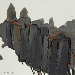 "11 Burigude Zhang, ""Fusion"", acrylic on canvas, 75 x 100 cm, 2012"