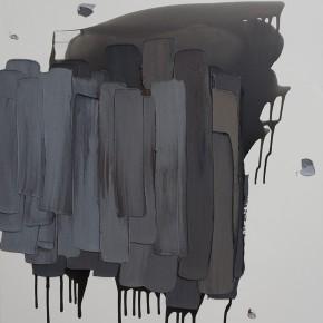 """16 Burigude Zhang, """"Raining"""", acrylic on canvas, 122 x 152 cm, 2012"""