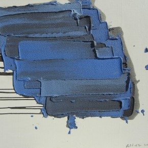 "17 Burigude Zhang, ""Blue Floating"", acrylic on canvas, 75 x 100 cm, 2012"