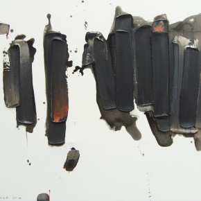 """18 Burigude Zhang, """"Scattering and Gathering"""", acrylic on canvas, 100 x 140 cm, 2010"""