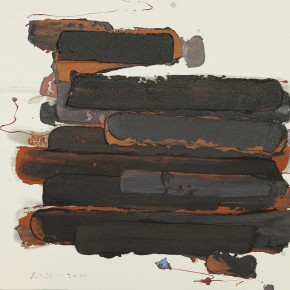 """25 Burigude Zhang, """"Sideways Image"""", acrylic on canvas, 100 x 140 cm, 2011"""