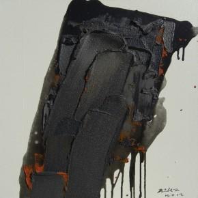 """35 Burigude Zhang, """"Peak"""", acrylic on canvas, 60 x 60 cm, 2012"""
