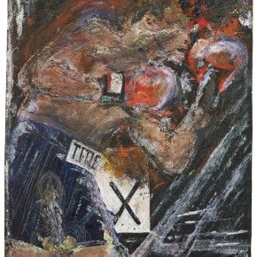 Francis Bacon Boxer paint and toner on canvas 21cm x 31cm 290x290 - Francis Bacon's First Exhibition in China Launched at the Art Museum of Nanjing University of the Arts