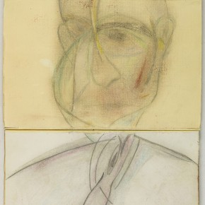 Francis Bacon Folded Portrait of Michel Leiris 1987 paint and toner on paper 34.5cm x 22.5cm 290x290 - Francis Bacon's First Exhibition in China Launched at the Art Museum of Nanjing University of the Arts