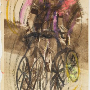 Francis Bacon Triple Presentation of Cyclist 1970 paint famille rose oil pastels and pencil 17.8cm x 25.0cm 290x290 - Francis Bacon's First Exhibition in China Launched at the Art Museum of Nanjing University of the Arts