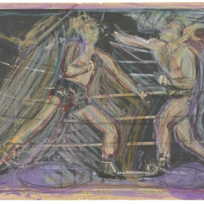 Francis Bacon Two Boxers on the Combined Pages of Sports Mirror 1960 toner pencil and charcoal pencil 56.6cm x 36cm,1960 290x290 - Francis Bacon's First Exhibition in China Launched at the Art Museum of Nanjing University of the Arts