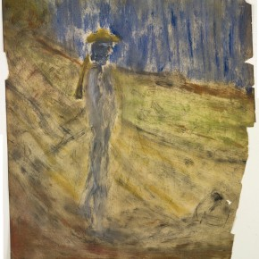 Francis Bacon Van Gogh wearing a yellow hat walks along on the road 1955 paint pencil and toner on photographic paper 28.5cm x 32.5cm 290x290 - Francis Bacon's First Exhibition in China Launched at the Art Museum of Nanjing University of the Arts