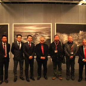 Group Photo of Chinese artist Zhao Xiaohai Meng Xinyu and Pasquale President of the Florence Biennale and Consul Yang Han from Consolato Generale della Repubblica Popolare Cinese in Firenze 290x290 - The New Florence Biennale 2013 - IX Edition