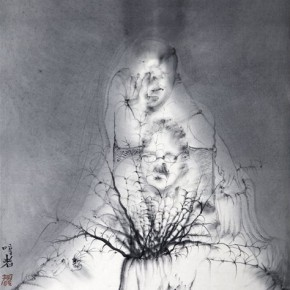 Li Huichang Singer 3045x69cmInk on Xuan Paper2011 290x290 - 2013 Chinese Invitational Exhibition of Ink and Wash opens at Today Art Museum