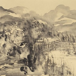Liu Zhibai The cloud up from Xiaoxiang 68×134cm ink on paper 2002 290x290 - 2013 Chinese Invitational Exhibition of Ink and Wash opens at Today Art Museum